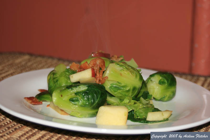 ... - Cook's Corner ~ Brussels Sprouts sautéed with Bacon and Apples