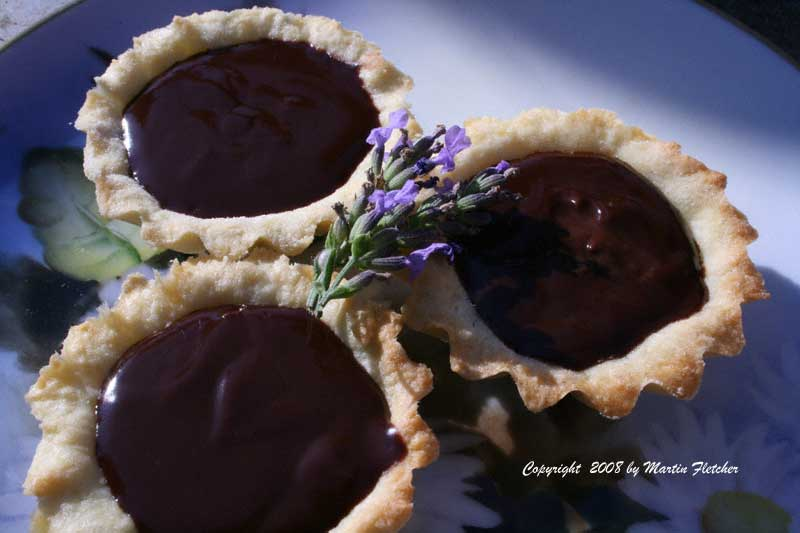 Lavender Chocolate Tart | Cooks Corner | California Gardens