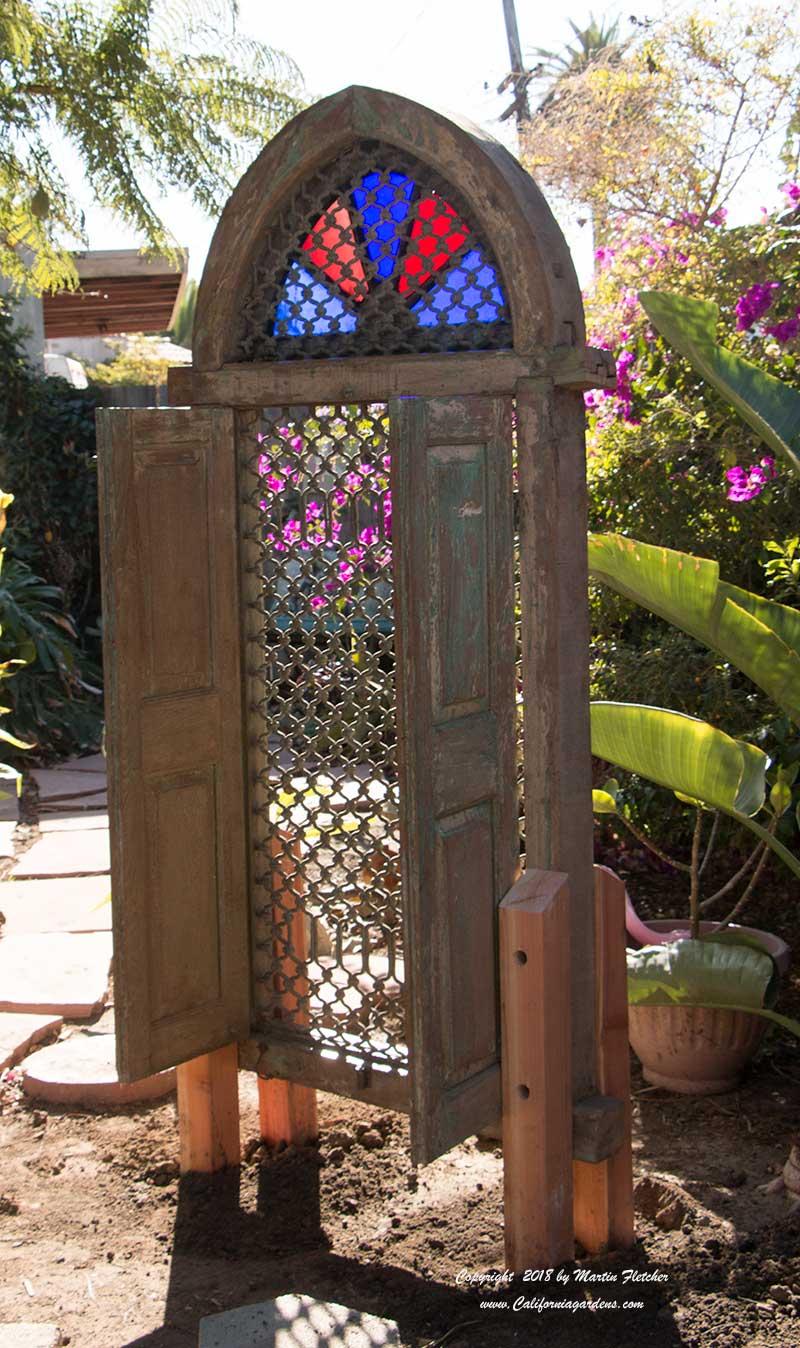 Tibetan Window in a Garden | California Gardens